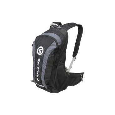 Велосипедный рюкзак KELLYS EXPLORE, объем 20 л, влагостойкий полиэстер, молния YKK, черный/серыйВелорюкзаки<br>Рюкзак KELLYS EXPLORE - отличное решение для велопробегов дождливой осенью или весной, поскольку он снабжен чехлом-дождевиком, надежно защищающим содержимое от намокания.<br><br>Так же рюкзак будет кстати и жарким летом, ведь благодаря системе АirComfort спине будет комфортно. Усиление спинки рюкзака не соприкасается со спиной велосипедиста, создавая зазор спина-рюкзак для циркуляции воздуха.<br><br>Рюкзак наделен специальным отсеком для гидропака, объемом до 3 л, сетчатыми карманами по бокам для воды и мелочей, карманом на молнии на поясном ремне для мобильника.<br><br>На фронтальной части имеются петли для крепления сумки для шлема и петля для крепления габаритного фонарика. <br><br>Для улучшения видимости велосипедиста другими участниками движения рюкзак имеет яркую окантовку желтого цвета и светоотражающие элементы.<br>