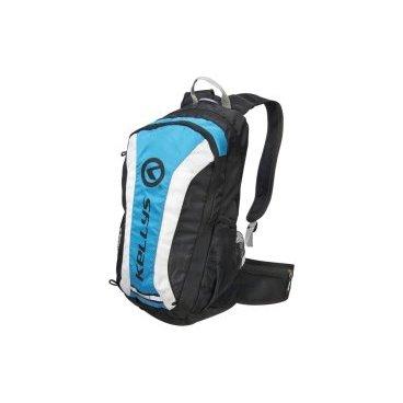 Велосипедный рюкзак KELLYS EXPLORE, объем 20 л, влагостойкий полиэстер, молния YKK, черный/синийВелорюкзаки<br>Рюкзак KELLYS EXPLORE - отличное решение для велопробегов дождливой осенью или весной, поскольку он снабжен чехлом-дождевиком, надежно защищающим содержимое от намокания.<br><br>Так же рюкзак будет кстати и жарким летом, ведь благодаря системе АirComfort спине будет комфортно. Усиление спинки рюкзака не соприкасается со спиной велосипедиста, создавая зазор спина-рюкзак для циркуляции воздуха.<br><br>Рюкзак наделен специальным отсеком для гидропака, объемом до 3 л, сетчатыми карманами по бокам для воды и мелочей, карманом на молнии на поясном ремне для мобильника.<br><br>На фронтальной части имеются петли для крепления сумки для шлема и петля для крепления габаритного фонарика. <br><br>Для улучшения видимости велосипедиста другими участниками движения рюкзак имеет яркую окантовку желтого цвета и светоотражающие элементы.<br>