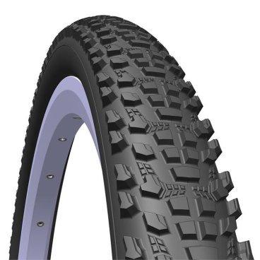 Велопокрышка RUBENA V85 OCELOT, 24 x 2,10,  черная, 510952732042Велопокрышки<br>MITAS (RUBENA) OCELOT V85 - покрышка с ярко выраженным рисунком от известного чешского производителя шинной продукции. Густо расположенные шипы образуют цепкий протектор, что обеспечивает лучший контроль над велосипедом на грунтах разной плотности. Двойной ряд боковых грунтозацепов придают стабильности и уверенности в крутых поворотах. OCELOT V85, отличный выбор для начинающего MTB райдера.<br> <br>Размер: 24 x 2,10 (54 - 507)<br>Рекомендуемое давление:до 4 атм.<br>Нагрузка: 106 кг.<br>Корд: Wired (стальной)<br>Компаунд: BC <br>Конструкция: Classic.<br>EPI: 22.<br>Вес: 820 грамм.<br>