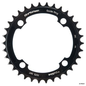 Звезда E Thirteen G-Ring, 104x36t, черный, CR.36.KСистемы<br>Очень лёгкая и надёжная звезда, которая отлично подойдёт как для односкоростных велосипедов, так и для использования с цепегасителем. Изготовлена из алюминиевого сплава.<br><br><br><br>ОСОБЕННОСТИ:<br><br><br><br>Толщина: 4мм<br><br>Подходит для 8, 9, 10 и 11-скоростных трансмиссий<br><br>Размер: 36 зубьев<br><br>Цвет: черный<br>Размер крепления звезд 104mm<br>Тип зубьев Стандарт<br>