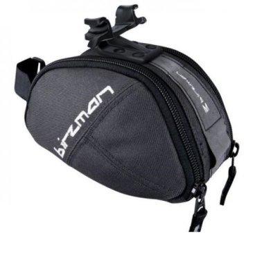Сумка подседельная Birzman M-Snug, 16 x 8 x 8 см, серый, нейлон, BM13-PO-SB05-GAMSВелосумки<br>Подседельные сумки велосипедисты, как правило, используют для перевозки компактных инструментов, аптечки или других мелкокалиберных вещей. <br>Поскольку вместительность подседельной сумки ограничена за счет своего расположения, то производители пытаются выиграть бой за покупателя - оригинальным дизайном. <br><br>Сумка подседельная Birzman M-Snug - велосумка с подседельным креплением M-Snug предлагает райдеру наиболее востребованные характеристики - компактные размеры и функциональный дизайн. <br>Предназначается для перевозки всего самого необходимого, например мульти-тула, запасной камеры, любых инструментов и всего того, что может спасти жизнь в дальнем велопутешествии или даже при повседневной велопрогулке. <br>Доступ к содержимому на молнии сумки с двух сторон, включая маленькие внутренние карманы для личных вещей. <br><br>МодельM-Snug<br><br>Материалнейлон<br>Объем0.5 л<br>Размеры16 x 8 x 8 см<br>Цветсерый<br>