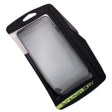 Чехол для смартфона Birzman Weather Warrior, черный,160x95mm, BM13-PO-PH01-KВелосумки<br>Водонепроницаемый чехол для смартфона, который может очень пригодиться в путешествиях. Чехол выполнен из устойчивого к истиранию нейлона 600D, а защитная плёнка для экрана – из полиуретана. Модель совместима с большинством современных смартфонов с пятидюймовым экраном. Внутренний карман хорошо подойдёт для хранения ключей, кредитных карт и прочих мелких ценных предметов.<br><br><br><br>ОСОБЕННОСТИ<br><br><br><br>Размер: 19х11см<br><br>Цвет: чёрный<br>