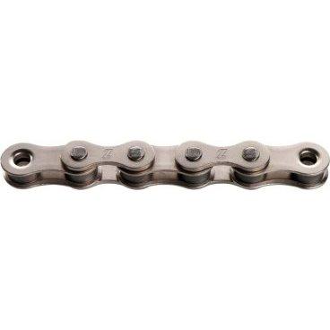 Цепь KMC Z510, 1 скорость, 1/8, 112 links, серебристый, BXZ51S12Велосипедная цепь<br>Традиционная цепь для односкоростных велосипедов, отличающаяся повышенной надёжностью. Цепь изготовлена из особого стального сплава с низким показателем эластичности, а утолщённые щёчки звеньев обеспечивают дополнительную прочность на разрыв.<br><br>ОСОБЕННОСТИ<br><br>Изготовлена из специального стального сплава с низким показателем эластичности<br>Утолщённые щёчки звеньев для большей прочности на разрыв<br>Количество звеньев: 112<br>Вес: 425 граммов<br>