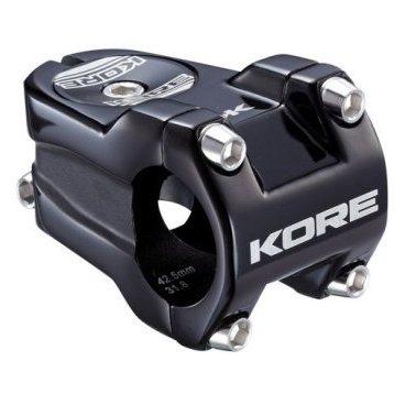 Вынос Kore Rivera, 42.5x31.8 мм, шток 1-1/8 дюйма, алюминий, черный, 182 г, KSTNKRVR0425PBATВыносы<br>Очень лёгкий, жёсткий и короткий вынос предназначенный для DH\FR. Центральный стержень обработан на ЧПУ типа CNC для снижения веса<br><br><br>Характеристики:<br><br>- Материал: алюминиевый сплав марки 6061-Т6<br>- Длина/подъём: 42.5 мм/ 0 мм<br>- Под руль: 31.8мм<br>- Под шток: 1 1\8<br>- Цвет: черный<br>- Вес: 182 гр<br>