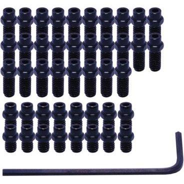 Шипы для педалей DMR Vault Pimp My Pedal, набор 40 штук, черный, DMR-PIN-VAULT-KПедали для велосипедов<br>Фирменный набор запасных шипов для педалей Vault. В комплект входят 40 цветных шипов и шестигранный ключ для их замены.<br><br><br><br>ОСОБЕННОСТИ<br><br><br><br>Набор совместим с педалями Vault<br><br>В комплект входят 40 цветных шипов и ключ для их замены<br>