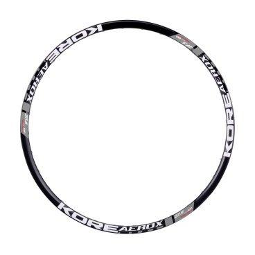 """Обод 27,5, Kore Aerox 32h F/V 21-26 мм, пистон. Sleeved Disk, черный, KRMAER65032BATОбода<br>Самый лёгкий обод для кросс-кантри от Kore. Данная модель изготовлена из термообработанного авиационного алюминия и отлично подойдёт тем, кто хочет дополнительно облегчить свой велосипед.<br><br><br><br>ОСОБЕННОСТИ<br><br><br><br>Материал: алюминиевый сплав марки 6061-T6<br><br>Совместим с бескамерными покрышками<br><br>Размер: 27.5""""<br><br>Ширина: 26мм<br><br>Высота: 21мм<br><br>Количество отверстий для спиц: 32<br><br>Вес: 388 граммов<br>"""