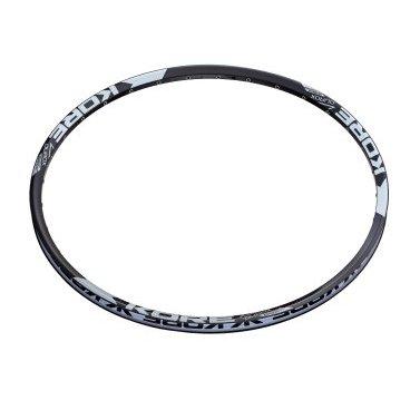 Обод 29, Kore Durox 32H, 21-25,4 мм пистон. UST Disk, черный, KRMDRX29032BATОбода<br>Лёгкий и прочный пистонированный обод для трейлрайдинга и катания в стиле ол-маунтин. Изготовлен из алюминиевого сплава марки 6061-Т6 и подходит для использования только с дисковыми тормозами. Обод подходит для бескамерного использования и совместим с резиной стандарта UST.<br><br><br><br>ОСОБЕННОСТИ<br><br><br><br>Диаметр: 29 дюймов<br><br>Материал: алюминиевый сплав марки 6061-Т6<br><br>Количество отверстий для спиц: 32<br><br>Ширина: 25.4мм<br><br>Высота: 19мм<br><br>Совместим с резиной стандарта UST.<br><br>Цвет: чёрный<br><br>Вес: 430 граммов<br>