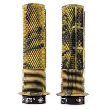 Грипсы DMR Brendog Death Grip Thick, кретон, D:31.3 мм, желтые, DMR-G-BREN-THICK-CРучки и Рога<br>Новые грипсы Death Grip созданы при непосредственном участии знаменитого гонщика Брендона Фэйркло. Основные их особенности – металлический замок с внутренней стороны, переменный внутренний диаметр (что позволяет обойтись без второго замка) и мягкая резина Kraton.<br><br><br>Характеристики:<br><br>- Утолщённая версия (диаметр – 31.3мм)<br>- Переменный внутренний диаметр позволяет обойтись одним металлическим замком<br>- Оригинальный рисунок для максимального комфорта и лучшего сцепления<br>- Мягкая резина Kraton<br>- Цвет: камуфляж<br>