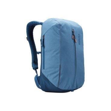 Рюкзак городской Thule Vea Backpack, 17L, светло-синий (Light Navy), 3203507Велорюкзаки<br>Thule Vea Backpack 17L<br>Стильный рюкзак предназначен для перемещения между офисом и тренажерным залом, позволяя хранить вещи для занятий спортом и работы отдельно друг от друга.<br><br>Особенности<br><br>- Специальные накладные карманы с мягкой подкладкой для защиты MacBook® с диагональю экрана 15 дюймов и планшета с диагональю экрана 10 дюймов <br>- Храните все необходимые для работы вещи в специальном отделении, предназначенном для ноутбуков, планшетов, файлов, ручек, паспортов, USB-накопителей, небольших шнуров и аксессуаров <br>- Во внешнем потайном кармане удобно хранить телефон или легкий перекус <br>- Просторное главное отделение имеет удобную застежку на молнии по типу спортивной сумки, благодаря чему вы можете легко класть туда все необходимое и так же легко его доставать <br>- В растягивающемся внутреннем кармане можно хранить обувь или грязную одежду <br>- Внутренние сетчатые карманы предназначены для хранения вещей, необходимых при походе в спортзал: от замка, ключей и карты доступа до расчески и туалетных принадлежностей <br>- Светоотражающие элементы на передней части сумки и наплечных ремнях обеспечат безопасность на дороге <br>- Наплечные ремни рюкзака фиксируются с помощью регулируемого нагрудного ремня <br>- Наплечные ремни с мягкой подкладкой и задняя панель с вентиляционным каналом обеспечивают комфорт при ношении рюкзака <br>- Быстрый и удобный доступ к содержимому благодаря надежным молниям YKK с язычками с надписью Thule и фурнитурой Duraflex <br><br>Технические характеристики<br><br>Размеры    30 x 23 x 46 см<br>Отсек для ноутбука — размеры    35.9 x 24.7 x 1.8 см<br>Вес    0.74 kg<br>Объем    17 l<br>Цвет    Light Navy<br>Материал    Полиэстеровая смесь, нейлон 800 ден<br>