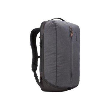 Рюкзак городской Thule Vea Backpack, 21L, черный (Black), 3203509Велорюкзаки<br>Особенности Thule Vea Backpack 21L Black<br>Специальные накладные карманы рюкзака Thule Vea 21L с мягкой подкладкой подходят для MacBook® с диагональю 15 дюймов, ноутбуков с диагональю 15,6 дюймов и планшетов с диагональю 10 дюймов<br>Храните все необходимые для работы вещи в специальном отделении рюкзака Thule Vea 21L, предназначенном для ноутбуков, планшетов, файлов, ручек, паспортов, USB-накопителей, небольших шнуров и аксессуаров<br>Эту универсальную сумку Thule Vea Backpack 21L можно носить тремя различными способами: в виде рюкзака, спортивной сумки и рюкзака с одной лямкой (неиспользуемые ремни можно отсоединить)<br>В растягивающемся внутреннем кармане рюкзака Thule Vea 21 можно хранить обувь или грязную одежду<br>Храните обувь в отдельном растягивающемся кармане, расположенном с внешней стороны рюкзака. Если он не используется, его можно стянуть, чтобы освободить место<br>Во внешнем потайном кармане в рюкзаке Thule Vea 21L с плисовой подкладкой удобно хранить телефон<br>Внутренние сетчатые карманы рюкзаков Thule Vea Backpack 21L предназначены для хранения вещей, необходимых при походе в спортзал: от замка, ключей и карты доступа до расчески и туалетных принадлежностей<br>Светоотражающие элементы на рюкзаке Thule Vea 21L и наплечных ремнях обеспечат безопасность на дороге<br>Наплечные ремни с мягкой подкладкой и задняя панель с вентиляционным каналом обеспечивают комфорт при ношении рюкзака<br>Быстрый и удобный доступ к содержимому благодаря надежным молниям YKK с язычками с надписью Thule и фурнитурой Duraflex<br>Технические характеристики<br>Размеры31 x 24 x 50 см<br>Отсек для ноутбука<br>размеры<br>38.5 x 26.5 x 3.1 см<br>Вес1.2 kg<br>Объем21 l<br><br>МатериалПолиэстеровая смесь, нейлон 800 ден<br>