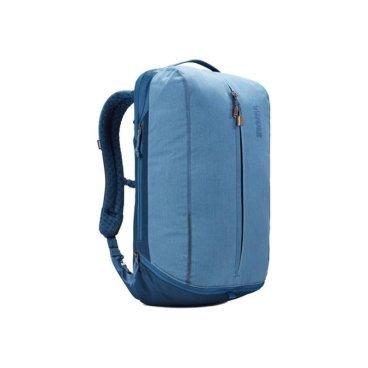 Рюкзак городской Thule Vea Backpack, 21L, светло-синий (Light Navy), 3203510Велорюкзаки<br>Особенности Thule Vea Backpack 21L Black<br>Специальные накладные карманы рюкзака Thule Vea 21L с мягкой подкладкой подходят для MacBook® с диагональю 15 дюймов, ноутбуков с диагональю 15,6 дюймов и планшетов с диагональю 10 дюймов<br>Храните все необходимые для работы вещи в специальном отделении рюкзака Thule Vea 21L, предназначенном для ноутбуков, планшетов, файлов, ручек, паспортов, USB-накопителей, небольших шнуров и аксессуаров<br>Эту универсальную сумку Thule Vea Backpack 21L можно носить тремя различными способами: в виде рюкзака, спортивной сумки и рюкзака с одной лямкой (неиспользуемые ремни можно отсоединить)<br>В растягивающемся внутреннем кармане рюкзака Thule Vea 21 можно хранить обувь или грязную одежду<br>Храните обувь в отдельном растягивающемся кармане, расположенном с внешней стороны рюкзака. Если он не используется, его можно стянуть, чтобы освободить место<br>Во внешнем потайном кармане в рюкзаке Thule Vea 21L с плисовой подкладкой удобно хранить телефон<br>Внутренние сетчатые карманы рюкзаков Thule Vea Backpack 21L предназначены для хранения вещей, необходимых при походе в спортзал: от замка, ключей и карты доступа до расчески и туалетных принадлежностей<br>Светоотражающие элементы на рюкзаке Thule Vea 21L и наплечных ремнях обеспечат безопасность на дороге<br>Наплечные ремни с мягкой подкладкой и задняя панель с вентиляционным каналом обеспечивают комфорт при ношении рюкзака<br>Быстрый и удобный доступ к содержимому благодаря надежным молниям YKK с язычками с надписью Thule и фурнитурой Duraflex<br>Технические характеристики<br>Размеры31 x 24 x 50 см<br>Отсек для ноутбука<br>размеры<br>38.5 x 26.5 x 3.1 см<br>Вес1.2 kg<br>Объем21 l<br><br>МатериалПолиэстеровая смесь, нейлон 800 ден<br>