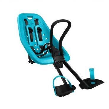 Детское велосипедное кресло Thule Yepp Mini, на руль, цвет морской волны, 12020113Детское велокресло<br>Особенности:<br><br>- Детское велосипедное сиденье легко устанавливается и совместимо с большинством моделей велосипедов<br>- Мягкое сиденье, смягчающее толчки и вибрацию, обеспечивает абсолютный комфорт для ребенка<br>- Максимальный комфорт и безопасность благодаря регулируемому 5-точечному ремню безопасности с подкладкой<br>- Оснащенная защитой от детей пряжка позволяет быстро и легко зафиксировать ребенка<br>- Во время езды ребенок может держаться за удобную ручку<br>- Адаптируется к параметрам ребенка по мере его роста и обеспечивает идеальную посадку благодаря регулируемым опорам для ног и фиксирующему ремню<br>- Благодаря водоотталкивающим материалам сиденье всегда остается сухим и легко чистится<br>- Разработано и протестировано для детей от 9 месяцев* до 3 лет, весом до 15 кг. (*Обратитесь к педиатру, если ребенку менее 1 года).<br><br>Технические характеристики:<br><br>Грузоподъемность15 kg<br>Вес3.5 kg<br>Ремень безопасности5-point<br>