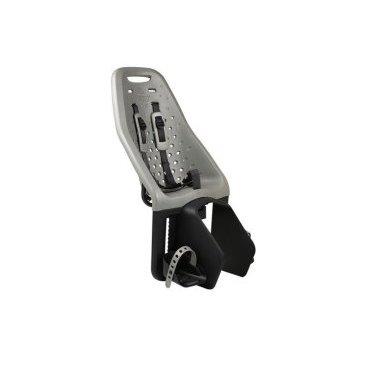 Детское велосипедное кресло Thule Yepp Maxi Easy Fit, на багажник, серый, 12020215Детское велокресло<br>Особенности:<br>- Детское велосипедное сиденье быстро и легко устанавливается на велосипед и крепится к заднему багажнику с окном EasyFit или багажнику, оснащенному переходником Thule Yepp Maxi EasyFit (продается отдельно)<br>- Мягкое сиденье, смягчающее толчки и вибрацию, обеспечивает абсолютный комфорт для ребенка<br>- Максимальный комфорт и безопасность благодаря регулируемому 5-точечному ремню безопасности с подкладкой<br>- Оснащенная защитой от детей пряжка позволяет быстро и легко зафиксировать ребенка<br>- Дополнительная видимость на расстоянии благодаря встроенному рефлектору и точке крепления светового индикатора<br>- Адаптируется к параметрам ребенка по мере его роста и обеспечивает идеальную посадку благодаря регулируемым опорам для ног и фиксирующему ремню<br>- Благодаря водоотталкивающим материалам сиденье всегда остается сухим и легко чистится<br>- Разработано и протестировано для детей от 9 месяцев* до 6 лет, весом до 22 кг. (*Обратитесь к педиатру, если ребенку менее 1 года).<br><br><br>Технические характеристики:<br>Грузоподъемность 22 kg<br>Вес 3.8 kg<br>Ремень безопасности 5-point<br>
