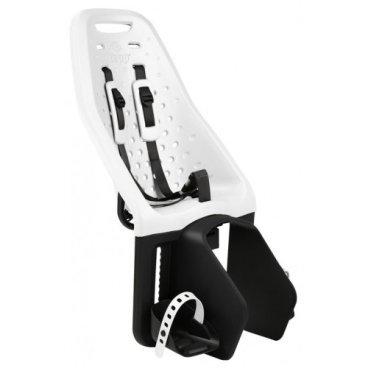 Детское велосипедное кресло Thule Yepp Maxi Easy Fit, на багажник, белый, 12020217Детское велокресло<br>Особенности:<br>- Детское велосипедное сиденье быстро и легко устанавливается на велосипед и крепится к заднему багажнику с окном EasyFit или багажнику, оснащенному переходником Thule Yepp Maxi EasyFit (продается отдельно)<br>- Мягкое сиденье, смягчающее толчки и вибрацию, обеспечивает абсолютный комфорт для ребенка<br>- Максимальный комфорт и безопасность благодаря регулируемому 5-точечному ремню безопасности с подкладкой<br>- Оснащенная защитой от детей пряжка позволяет быстро и легко зафиксировать ребенка<br>- Дополнительная видимость на расстоянии благодаря встроенному рефлектору и точке крепления светового индикатора<br>- Адаптируется к параметрам ребенка по мере его роста и обеспечивает идеальную посадку благодаря регулируемым опорам для ног и фиксирующему ремню<br>- Благодаря водоотталкивающим материалам сиденье всегда остается сухим и легко чистится<br>- Разработано и протестировано для детей от 9 месяцев* до 6 лет, весом до 22 кг. (*Обратитесь к педиатру, если ребенку менее 1 года).<br><br><br>Технические характеристики:<br>Грузоподъемность 22 kg<br>Вес 3.8 kg<br>Ремень безопасности 5-point<br>