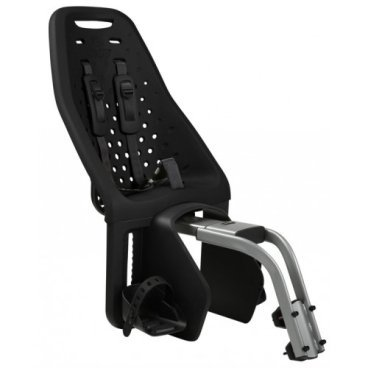Детское велосипедное кресло Thule Yepp Maxi Seat Post, на раму, заднее, черный, 12020231Детское велокресло<br>Продуманное и функциональное велокресло с запоминающимся дизайном для установки сзади велосипеда на подседельную раму диаметром 28 - 40 мм.<br><br>Мягкий низкотеплопроводный материал.<br><br>Особенности:<br><br>- уникальность кресла в возможности легкой и быстрой  установки на подседельную раму велосипеда<br><br>- купив еще один адаптер Thule Yepp Maxi Seat Post Adapter (продается отдельно) можно быстро перекинуть кресло на второй велосипед<br><br>- максимальный комфорт и безопасность  благодаря регулируемым 5-точечным ремням, которые идеально фиксируют ребенка<br><br>- мягкий и ударопоглощающий материал сидения позволяет ребенку сидеть очень комфортно<br><br>- ребенок легко и быстро пристегивается пряжкой с защитой от открывания детьми<br><br>- держатели  и ремни для ступней регулируются по росту ребенка<br><br>- встроенные рефлекторы для улучшения видимости в темное время<br><br>- благодаря водоотталкивающим материалам сиденье всегда остается сухим и легко чистится<br><br>- разработано и протестировано для детей от 9 месяцев до 6 лет, весом до 22 кг<br><br>Ремень безопасности: 5-point (5-точечный регулируемый ремень безопасности с подкладкой)<br><br>Вес: 4.6 кг<br><br>Производство: Швеция<br>