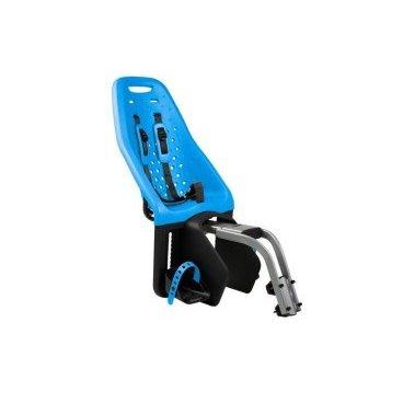 Детское велосипедное кресло Thule Yepp Maxi Seat Post, на раму, заднее, голубой, 12020232Детское велокресло<br>Продуманное и функциональное велокресло с запоминающимся дизайном для установки сзади велосипеда на подседельную раму диаметром 28 - 40 мм.<br><br>Мягкий низкотеплопроводный материал.<br><br>Особенности:<br><br>- уникальность кресла в возможности легкой и быстрой  установки на подседельную раму велосипеда<br><br>- купив еще один адаптер Thule Yepp Maxi Seat Post Adapter (продается отдельно) можно быстро перекинуть кресло на второй велосипед<br><br>- максимальный комфорт и безопасность  благодаря регулируемым 5-точечным ремням, которые идеально фиксируют ребенка<br><br>- мягкий и ударопоглощающий материал сидения позволяет ребенку сидеть очень комфортно<br><br>- ребенок легко и быстро пристегивается пряжкой с защитой от открывания детьми<br><br>- держатели  и ремни для ступней регулируются по росту ребенка<br><br>- встроенные рефлекторы для улучшения видимости в темное время<br><br>- благодаря водоотталкивающим материалам сиденье всегда остается сухим и легко чистится<br><br>- разработано и протестировано для детей от 9 месяцев до 6 лет, весом до 22 кг<br><br>Ремень безопасности: 5-point (5-точечный регулируемый ремень безопасности с подкладкой)<br><br>Вес: 4.6 кг<br><br>Производство: Швеция<br>