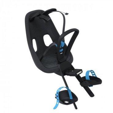 Детское велосипедное кресло Thule Yepp Nexxt Mini, на руль, черный, 12080101Детское велокресло<br>Детское велосипедное сиденье, благодаря мягкому и прочному детскому сиденью ребенок может безопасно и комфортно ездить на передней части велосипеда.<br> <br>- Детское велосипедное сиденье легко устанавливается и совместимо с большинством моделей велосипедов<br><br>- Мягкое сиденье, смягчающее толчки и вибрацию, обеспечивает абсолютный комфорт для ребенка<br><br>- Максимальный комфорт и безопасность благодаря регулируемому 5-точечному ремню безопасности с подкладкой<br><br>- Оснащенная защитой от детей пряжка позволяет быстро и легко зафиксировать ребенка<br><br>- Во время езды ребенок может держаться за удобную ручку<br><br>- Адаптируется к параметрам ребенка по мере его роста и обеспечивает идеальную посадку благодаря регулируемым опорам для ног и фиксирующему ремню<br><br>- Благодаря водоотталкивающим материалам сиденье всегда остается сухим и легко чистится<br>- Разработано и протестировано для детей от 9 месяцев* до 3 лет, весом до 15 кг. (*Обратитесь к педиатру, если ребенку менее 1 года). <br><br>Вес: 1.62 кг<br>Максимальный вес ребенка: 15 кг<br>