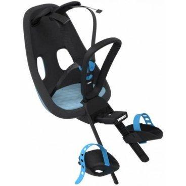 Детское велосипедное кресло Thule Yepp Nexxt Mini, на руль, голубой, 12080104Детское велокресло<br>Детское велосипедное сиденье, благодаря мягкому и прочному детскому сиденью ребенок может безопасно и комфортно ездить на передней части велосипеда.<br> <br>- Детское велосипедное сиденье легко устанавливается и совместимо с большинством моделей велосипедов<br><br>- Мягкое сиденье, смягчающее толчки и вибрацию, обеспечивает абсолютный комфорт для ребенка<br><br>- Максимальный комфорт и безопасность благодаря регулируемому 5-точечному ремню безопасности с подкладкой<br><br>- Оснащенная защитой от детей пряжка позволяет быстро и легко зафиксировать ребенка<br><br>- Во время езды ребенок может держаться за удобную ручку<br><br>- Адаптируется к параметрам ребенка по мере его роста и обеспечивает идеальную посадку благодаря регулируемым опорам для ног и фиксирующему ремню<br><br>- Благодаря водоотталкивающим материалам сиденье всегда остается сухим и легко чистится<br>- Разработано и протестировано для детей от 9 месяцев* до 3 лет, весом до 15 кг. (*Обратитесь к педиатру, если ребенку менее 1 года). <br><br>Вес: 1.62 кг<br>Максимальный вес ребенка: 15 кг<br>