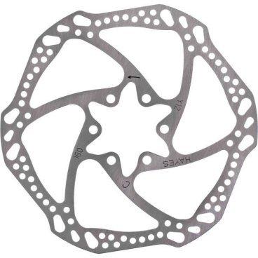 Тормозной диск Hayes Light Weight Rotors, 160mm, 98-28061-K001Тормоза на велосипед<br>Облегчённый ротор Hayes с классическим креплением на 6 болтов. Изготовлен из высококачественной стали, диаметр - 160мм.<br>