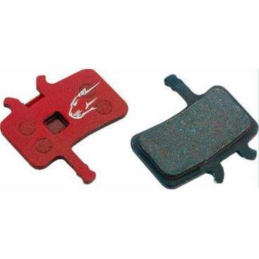 Тормозные колодки Jagwire Mountain Sport Disc Pad Avid BB7, All Juicy, красный, BWD1003Тормоза на велосипед<br>Высококачественные металлизированные колодки на стальной основе, обеспечивающие эффективное и почти бесшумное торможение. Совместимы с тормозами Avid BB7.<br><br>Avid® BB7, All Juicy Models<br>