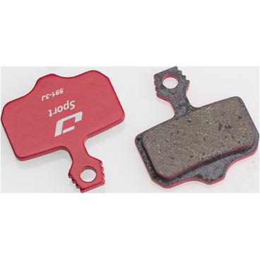 Тормозные колодки Jagwire Mountain Sport Disc Pad Avid Elixir CR [25], красный, BWD1002Тормоза на велосипед<br>Разные стили и условия катания требуют разных тормозных колодок. Тормозные колодки Jagwire разработаны для обеспечения длительного торможения и модуляции в различных условиях. Высококачественные металлизированные колодки Jagwire Mountain Sport на стальной подложке обеспечивают эффективное и почти бесшумное торможение. Совместимы с тормозами Avid.<br><br>Характеристики:<br>Совместимость: DB1/DB3/Elixir 1,3,5,7,9/ElixirCR/Elixir CR Mag/Elixir R/Elixir XO/XX/XX World Cup<br>Состав: полуметаллический (semi-metallic)<br>Подложка: стальная<br>Низкий уровень шума<br>Пружина в комплекте.<br>