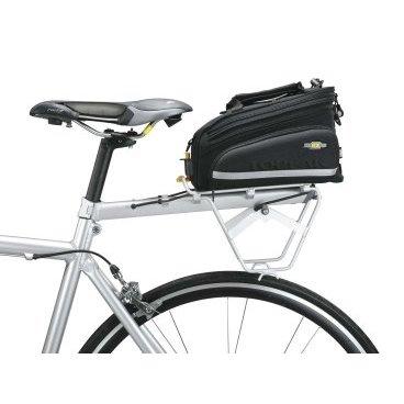ВелобагажникTOPEAK RX Beamrack E, боковая рамка в комплекте TA2401EБагажники для велосипеда<br>Багажник Topeak с креплением на раму размера XS, S и M. <br>Легкий и удобный  багажник из алюминия с боковыми рамками. Сумку можно прикрепить к подседельному штырю. Эта модель также может использоваться в паре с сумками RX производителя Topeak.В такой багажник можно поместить до 7 кг разнообразных предметов. Прикрепить внутри груз можно вшитыми резиновыми петлями. Также можно установить мигалку Redlite при помощи встроенной клипсы.  Сам багажник в не наполненном состоянии весит чуть больше 500 грамм.<br>