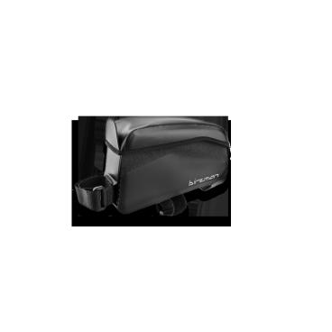 Сумка Birzman Belly R-Top Tube, 16.5x10x4cm, черный, BM14-BAG-TTB1Велосумки<br>Если вы хотите всегда иметь под рукой энергетический батончик, смартфон и другие мелкие вещи, то сумка Belly R - то, что вам нужно. Она выполнена из непромокаемого материала, так что ваши вещи останутся сухими в любую погоду.<br><br><br>Функции<br><br><br>Непромокаемая сумка для крепления на верхнюю трубу рамы<br><br><br>Материал<br><br>Нейлон 420D/840D<br><br><br>Размер<br><br>16.5x10x4cm<br>