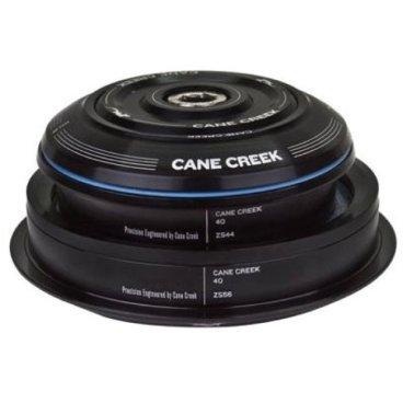Рулевая колонка 1-1/8 Cane Creek 40 Asmbly-STR-ZS44/28.6/30-H8, черный, BAA0075KРули<br>Рулевая колонка серии Cane Creek 40 - прочная и долговечная рулевая колонка для самых тяжелых условий. Колонки серии Cane Creek 40 представляют собой превосходный баланс производительности, надежности и цены. Сделано в Флетчере, США.<br>Материал чашек: Алюминий 6061 T-6 с внутренней обработкой для снижения веса<br>Внутренние уплотнения: инновационные герметичные уплотнения Clip-Seal<br>Внешние пыльники: Высококачественые, низкофрикционные пыльники на стопорном кольце вилки<br>Подшипники: усиленные, закрытые промподшипники<br>Interlok: совместимость со спейсерами Interlok<br>Совместимость: внутренние компоненты совместимы между рулевыми колонками серий 10, 40 и 110<br><br>Характеристики:<br><br>Тип чашек: полуинтегрированные<br>Высота чашек: 8 мм/4 мм<br>Диаметр посадочного места стакана: 44 мм/44 мм<br>Диаметр штока: 28.6 мм/30мм<br>Цвет:  черный<br>Вес: 88 г<br>