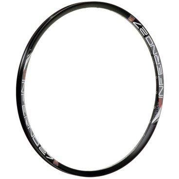 Обод 27,5, 32h, SunRingle Inferno 27 Pre Ano Sleeved W/E, черный, K59E14P13605CОбода<br>Лёгкий и жёсткий обод для трейлрайдинга и эндуро. Изготовлен из алюминиевого сплава и подходит только для использования с дисковыми тормозами.<br><br>Материал: алюминиевый сплав<br>Клёпаный шов<br>Пистонированный<br>Подходит только для использования с дисковыми тормозами<br>Размер: 27.5 дюймов<br>Ширина: 27мм<br>Высота: 20мм<br>Количество отверстий для спиц: 32<br>Вес: 515 граммов<br>