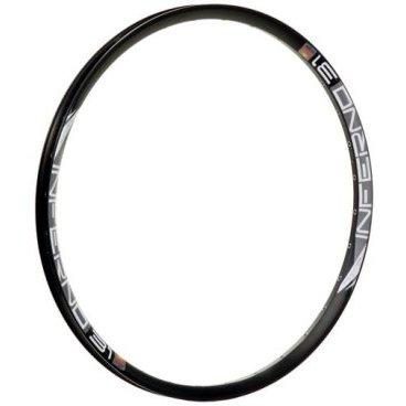 Обод 27,5, 32h, SunRingle Inferno 31 Pre Ano Sleeved W/E, черный, K79E14P13605CОбода<br>Лёгкий и жёсткий обод для фрирайда и даунхилла. Изготовлен из алюминиевого сплава и подходит только для использования с дисковыми тормозами.<br><br>Материал: алюминий, клепаный<br>Тормоза: дисковые<br>Размер: 27.5 дюймов<br>Ширина: 31мм<br>Вн. ширина: 25.4мм<br>Высота: 22мм<br>Количество отверстий для спиц: 32<br>Вес: 589 грамма<br>