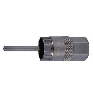 Съёмник кассеты с направляющей Birzman Shimano, BM08-RWH-SHGC02Велоинструменты<br>Надежный и удобный съемник кассеты Shimano. Высота 32 мм. Подходит для ключа-трещотки 1/2. Можно использовать для роторов системы Shimano Center Lock<br>