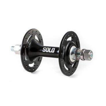 Втулка передняя ColtBikes SOLO 32H, черный, промышленный подшипник, гайка, CBHFB26632Втулки для велосипеда<br>Ширина втулки: 100 мм<br>Длина оси: 140 мм (М9)<br>Число отверстий под спицы: 32H<br>Длина окружности расположения отверстий под спицы: 62 мм<br>Промподшипник: да<br>Межфланцевое расстояние: 64 мм<br>Вес: 264 гр<br>