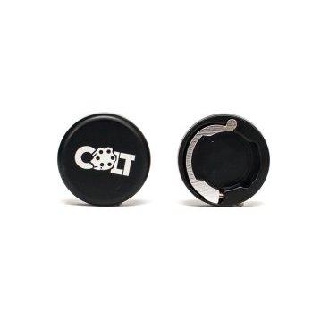 Заглушки руля Colt Lock, пара, черный, HY-ALC-105-1Ручки и Рога<br>Разноцветные алюминиевые заглушки на руль с замком, совместимы с грипсами СOLT.<br>