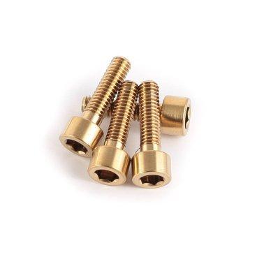 Болт A2Z Ti, 15 мм, 4 штуки, B-M4150 GdnТормоза на велосипед<br>Болт A2Z, 4 штуки х 15 мм, золотистые<br>