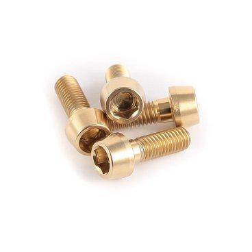 Болт A2Z Ti, 10 мм, 4 штуки, B-M5100 GdnТормоза на велосипед<br>Болт A2Z, 4 штуки х 10 мм, золотистые<br>