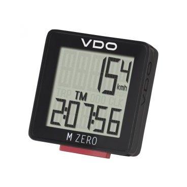 Велокомпьютер VDO M-ZERO WR, 5 функций, 3-строчный дисплей, черный, 4-3000Велокомпьютеры<br>Бюджетный велокомпьютер VDO M ZERO с базовой функциональностью: для тех, кто ценит простоту.<br>- 5 функций<br>- Два параметра на экране одновременно<br>- Всего одна кнопка<br>- Влагозащищенный<br>- На один велосипед<br>