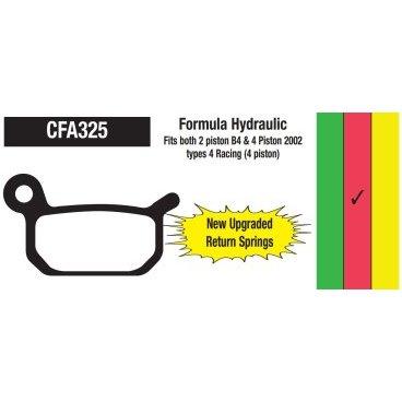 Тормозные колодки EBC Formula B4/Pro, красный, CFA325RТормоза на велосипед<br>Высокофриктивный компаунд этих колодок поможет вдохнуть новую жизнь в ваши тормоза. Данный тип компаунда обеспечивает более высокий коэффициент трения, нежели стандартный и может стать хорошим апгрейдом для любых тормозов, когда требуется большая тормозная мощность. Основной особенностью является низкое тепловыделение, поэтому эти колодки являются идеальным выбором для даунхилла и фрирайда.<br>
