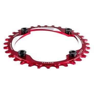 Звезда передняя A2Z NW chainring, 32T, алюминий, красный, NW-32T-104-3Системы<br>Звезда A2Z нового поколения для привода 1х10 или 1х11. Специальные профиль зубьев предотвращает слетание цепи. Теперь можно снять успокоитель снизив вес велосипеда и убрав лишнее трение в трансмиссии.<br><br>    Материал: Alloy 7075-T6<br>    CNC обработка<br>    BCD: 104мм<br>    Для 9/10/11-скоростных цепей<br>    Вес: 48г (32t)<br>    В комплекте алюминиевые бонки<br>