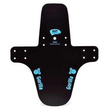 Крыло переднее Gorilla, на вилку, пластик, длинное, черно-синее, GORILLA BL-LКрылья для велосипедов<br>Небольшое крыло Gorilla эффективно защищает лицо от грязи, летящей с переднего колеса. Может быть установлено на задний треугольник для защиты амортизатора, переднего переключателя или кареточного узла.<br>Изготовлено из ПВХ-пластика толщиной 1 мм.<br>