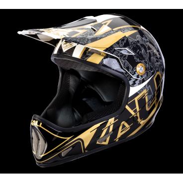 Велошлем Avatar X Galaxy, черно-золотойВелошлемы<br>Один из самых легких фуллфейсов, Avatar X сочетает технологию инжекционного литься с пеной переменной плотности, а также легкий корпус из кевлара, карбона и стекловолокна. <br><br>Composite Fusion™ Plus <br>Корпус Tri-Weave <br>Пена EPS переменной плотности <br>Антибактериальные съемные подкладки <br>Съемный козырек <br>Встроенное креплениея для камеры или фонаря <br>Примерный вес: 850г (размер M) <br>Сертификаты безопасности: ASTM F1952, ASTM 2032, EN 1078, CPSC<br>