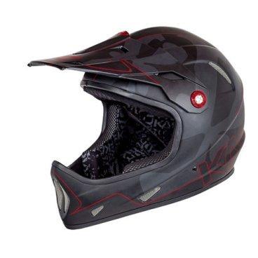 Велошлем KALI Avatar, черно-красныйВелошлемы<br>AVATAR™ Чертовски легкий фуллфейс! Что еще более интересно, как при таком весе, он может быть безумно прочным! Корпус шлема сочетает в себе карбон, кевлар и углепластик.<br>В шлеме используется технология COMPOSITE FUSION™- корпус и пена составляют единое целое, позволяя добиться максимальной прочности при минимальном весе.<br><br>ТЕХНОЛОГИИ:<br>Composite Fusion<br>Pop-Out<br><br>МАТЕРИАЛЫ:<br>Fiberglass<br><br>ОСОБЕННОСТИ:<br>Отлично совмещается с защитой шеи<br>Трехслойная оболочка из карбона кевлара и стекловолокна<br>COMPOSITE FUSION™<br>Пена EPS малой плотности<br>Встроенная система вентиляции<br>Съемные мягкие подкладки<br>Широкий обзор<br>Вес: 980г (размер М)<br>Сертификаты безопасности: EN 1078, CPSC<br>