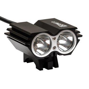 Фонарь передний Lumen 302-X, 2000 lumens, 2 Cree XML-T6 черный, EBL302XФары и фонари для велосипеда<br>Тип диода: 2xCREE XM-L T6(Max 10W)<br>Яркость: 2000 Lumen<br>Водонепроницаемый IPX7<br>4 режима работы: яркий 100%, средний 50%, минимальный 20%, стробоскоп 10%(долгое нажатие)<br>Алюминиевый теплоотводящий корпус<br>Алюминиевый отражатель<br>Устойчивое к царапинам закаленное стекло<br>Зарядка 100В-240В с индикатором зарядки.<br>Входящее напряжение  8,4V DC<br>Мощность: 20W<br>Батарейный блок 4*18650 lithium battery pack (4800mah)<br>Входящее напряжение з/у  100-240V AC<br>Исходящее напряжение з/у 8.4V DC 1A<br>Вес: 110 гр.<br>Время работы: ~4,5 часа 100%<br>Время зарядки: ~5 часов.<br>