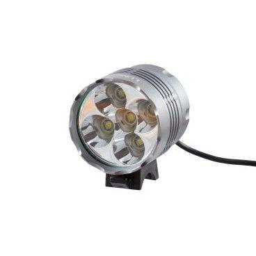 Фонарь передний Lumen 305, 6000 lumens, 5 Cree XML-T6 серый, EBL305Фары и фонари для велосипеда<br>5 диодов дают яркость 6000лм! Дорога отлично освещается на ближнем и дальнем расстоянии с широким охватом. Влагозащитный корпус позволяет пользоваться фонарем в дождливую погоду. <br>В комплекте: фонарь, аккумулятор, зарядное устройство, крепление на руль, крепление на голову. <br><br>Основные характеристики <br>Яркость: 6000лм <br>Вес: 190г <br>Мощность: 50W <br>Время работы: 3-3,5ч (в режиме полной яркости) <br>Влагозащита: IP65 <br><br>Технические параметры <br>Тип диода: 5x Cree XM-L T6 <br>Режимы работы: яркий, средний, стробоскоп <br>Корпус: alloy с ребрами для лучшего отвода тепла <br>Отражатель: alloy <br>Стекло: закаленное, устойчивое к царапинам <br>Зарядка: от сети 100-240В с индикатором заряда (output 8,4V 1A) <br>Время зарядки: приблизительно 8 часов <br>Входящее напряжение: 8,4V DC <br>Аккумулятор: 4x18650 (8800mAh)<br>