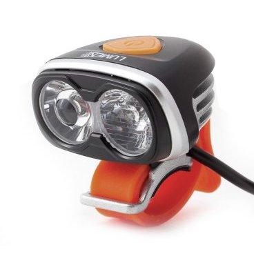Фонарь передний Lumen 302R, 2000 lumens, 2 Cree XM-L2 T6, EBL302RФары и фонари для велосипеда<br>Яркая передняя фара Lumen 302R с двумя диодами. Диод дальнего света оснащен специальной линзой, обеспечивающая равномерный пучок пробивного света. Диод ближнего света имеет рассеивающую линзу и направлен ближе к переднему колесу, так что бы не слепить встречных райдеров или водителей в городе. Универсальный силиконовый крепеж совместим со всеми диаметрами рулей. <br><br>Технические характеристики <br>Режимы работы: Дальний свет, ближний свет, дальний и ближний счет, стробоскоп. <br>Тип диода: 2x Cree xm-l L2 T6 led <br>Яркость: 1800 Lumen <br>Зарядка 100В-240В с индикатором зарядки <br>Входящее напряжение 8,4V DC <br>Батарейный блок 8.4v 4x2000mah li-Ion <br>Индикатор низкого заряда аккумулятора <br>Защита от перезаряда <br>Время работы: до 3ч. на максимальной яркости, до 15ч. в режиме сторобоскопа. <br>Время зарядки: ~5 часов. <br><br>Корпус <br>Водонепроницаемый IP65 <br>Алюминиевый теплоотводящий корпус <br>Устойчивое к царапинам закаленное стекло <br>Вес: 110г. - фонарь, 215г. - аккумулятор<br>