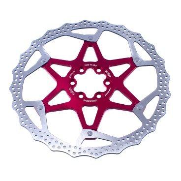 Тормозной диск A2Z ATD, 203 мм, 6 болтов, красный, ATD-203-3Тормоза на велосипед<br>Тормозной диск A2Z ATD сделан из двух частей для уменьшения веса и более эффективного охлаждения. Центральная часть ввполнена из алюминия 7075T6 с CNC обработкой предотвращает деформацию диска при перегреве.<br><br>Характеристики:<br> - Паук из сплава 7075 T6<br> - Крепление IS 6 болтов<br>