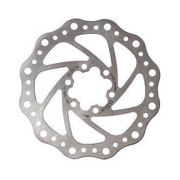 Тормозной диск A2Z SP4, 140 мм, 6 болтов, сталь, SP4-140Тормоза на велосипед<br>Тормозной диск из прочной нержавеющей стали. Крепление на 6 болтов<br>