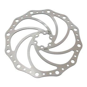 Тормозной диск A2Z SP4, 203 мм, 6 болтов, сталь, SP4-203Тормоза на велосипед<br>Тормозной диск из прочной нержавеющей стали. Крепление на 6 болтов<br>