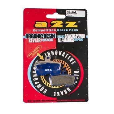 Тормозные колодки A2Z Avid Code R, синий, AZ-294Тормоза на велосипед<br>A2Z - небольшой тайваньский завод по производству велосипедных запчастей, специализируется на выпуске высококачественных компонентов, легких втулок, тормозных дисков, титановых эксцентриков и других деталей.<br><br>    Превосходные тормозные свойства колодок уменьшают тормозной путь<br>    Высокоэффективный состав увеличивает мощность при любых погодных условиях<br>    Все тормозные колодки A2Z сделаны из органических соединений и не содержат асбеста<br><br>- Blue (organic) - высокоэффективные органические колодки, на 110%* выше мощность и на 150%* дольше срок службы <br><br>*по сравнению со стоковыми колодками<br>