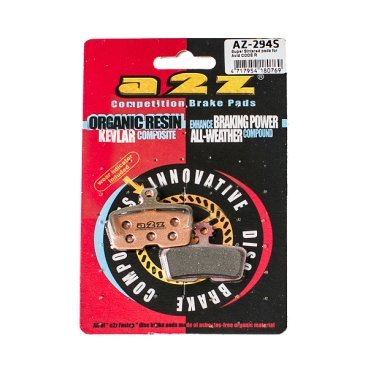 Тормозные колодки A2Z Avid Code R, серебристый, AZ-294AТормоза на велосипед<br>A2Z - небольшой тайваньский завод по производству велосипедных запчастей, специализируется на выпуске высококачественных компонентов, легких втулок, тормозных дисков, титановых эксцентриков и других деталей.<br><br>    Превосходные тормозные свойства колодок уменьшают тормозной путь<br>    Высокоэффективный состав увеличивает мощность при любых погодных условиях<br>    Все тормозные колодки A2Z сделаны из органических соединений и не содержат асбеста<br><br>- Silver (organic) - высокоэффективные органические колодки на алюминиевой подложке, легче колодок Blue на 50%<br>