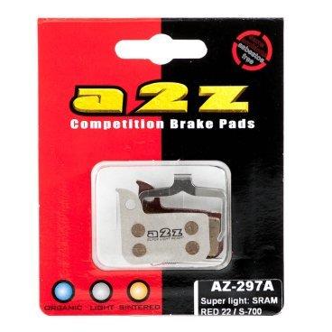 Тормозные колодки A2Z Avid road RED 22/S-700, серебристый, AZ-297AТормоза на велосипед<br>A2Z - небольшой тайваньский завод по производству велосипедных запчастей, специализируется на выпуске высококачественных компонентов, легких втулок, тормозных дисков, титановых эксцентриков и других деталей. <br><br>    Превосходные тормозные свойства колодок уменьшают тормозной путь<br>    Высокоэффективный состав увеличивает мощность при любых погодных условиях<br>    Все тормозные колодки A2Z сделаны из органических соединений и не содержат асбеста <br><br>Виды тормозных колодок A2Z: <br> - Silver (organic) - высокоэффективные органические колодки на алюминиевой подложке, легче колодок Blue на 50% <br><br>* - по сравнению со стоковыми колодками.<br>